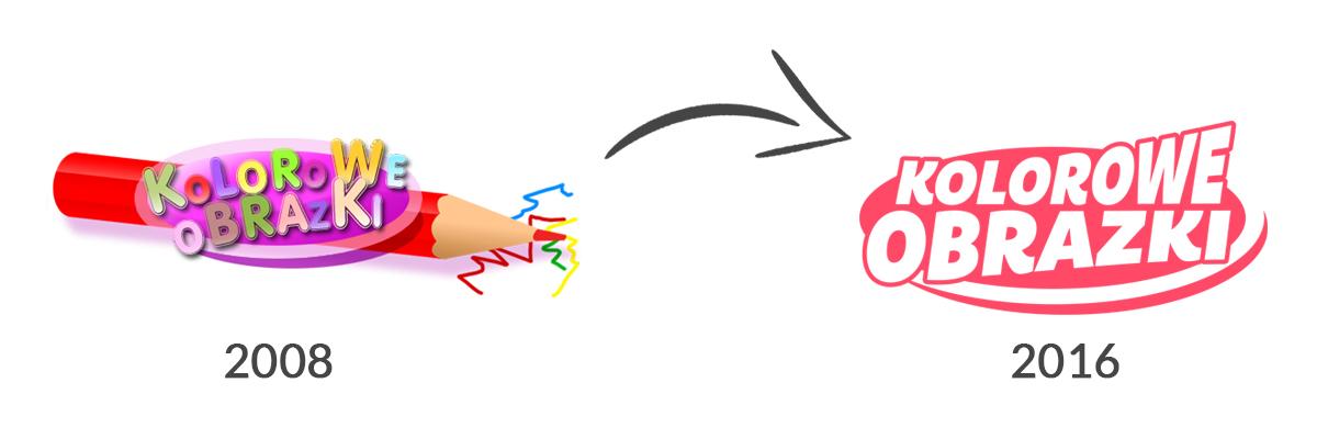 Redesign logo portalu Kolorowe-Obrazki.pl - Edukacyjne kolorowanki dla dzieci